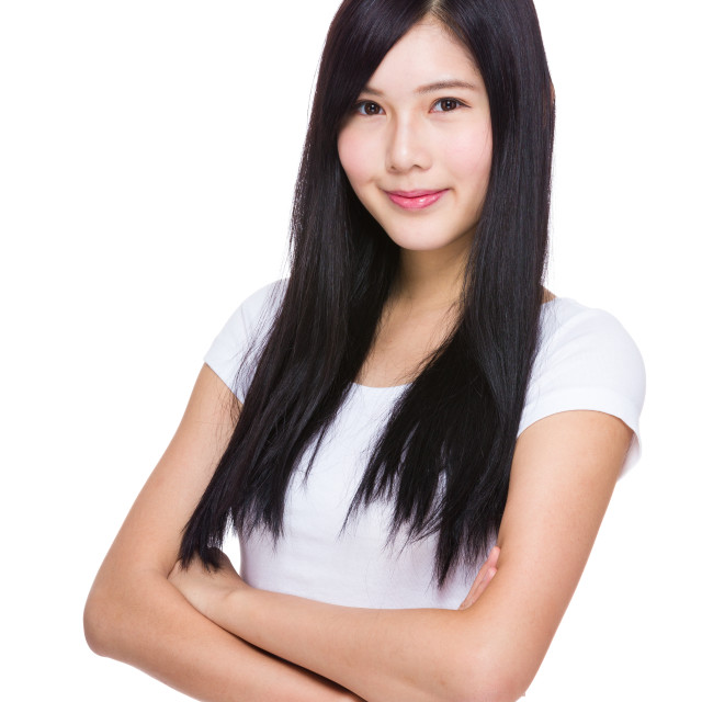 """""""Young asian woman"""" stock image"""