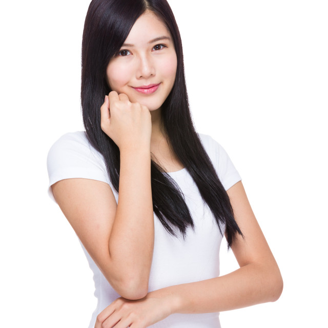 """""""Young asian woman portrait"""" stock image"""