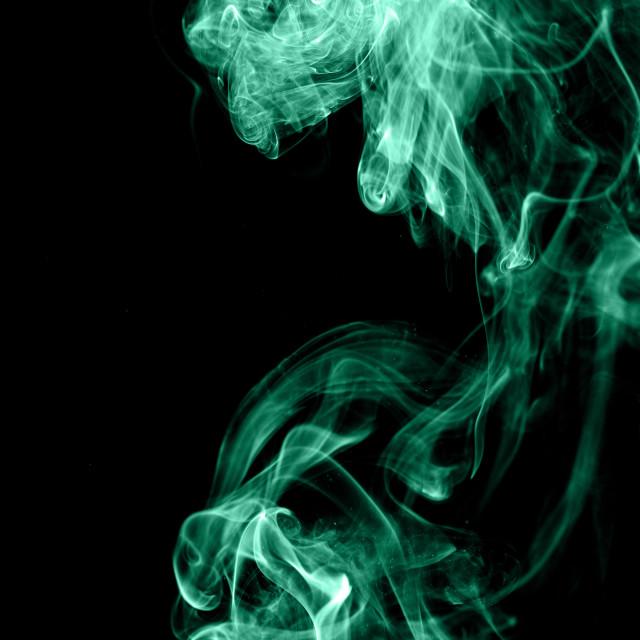 """Green wave smoke"" stock image"
