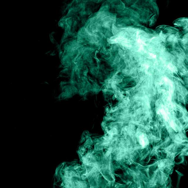 """Smoke in green"" stock image"