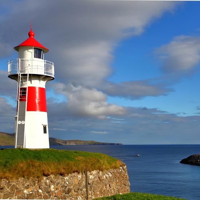 """""""Torshavn Lighthouse"""" stock image"""