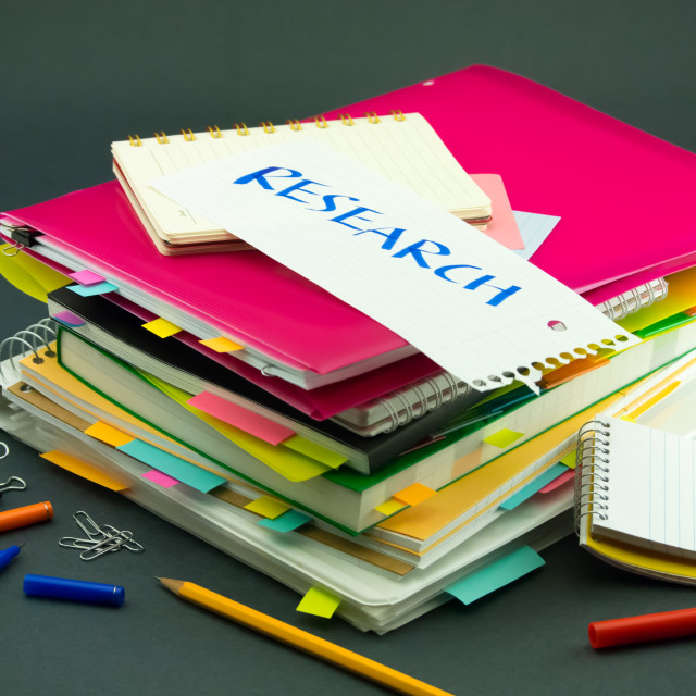 """The Pile of Business Documents; Research"" stock image"