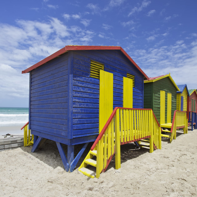 """""""Bach huts in Cape Town, South Africa"""" stock image"""
