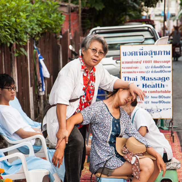 """Thai Street Massage"" stock image"