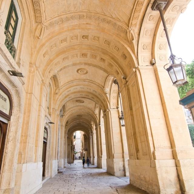 """""""Valletta vault"""" stock image"""