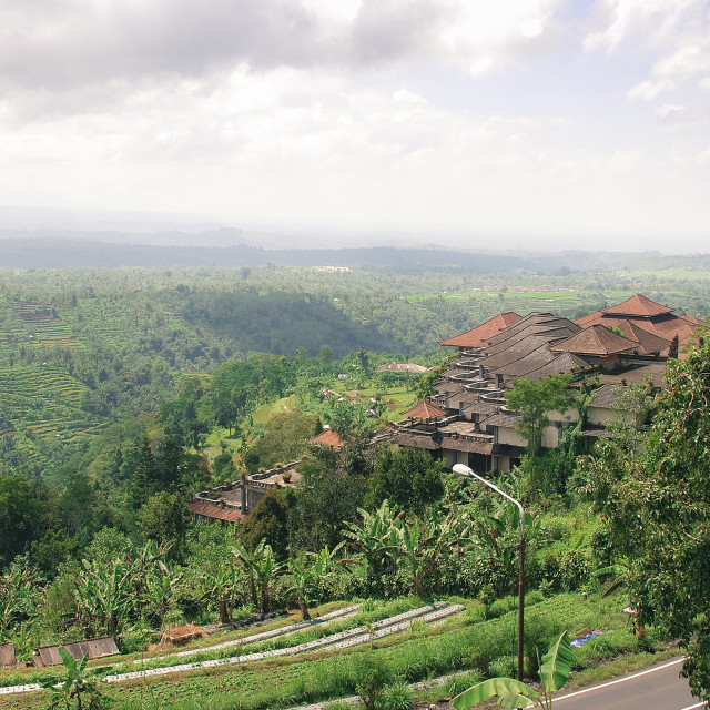 """""""View from North of Bali."""" stock image"""
