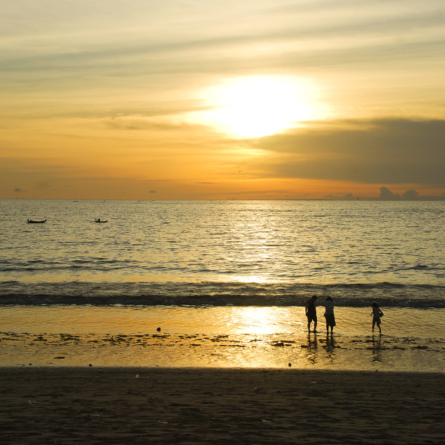 """""""Sunset at beach in Bali"""" stock image"""