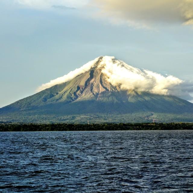 """Volcano ""Concepción"" in Ometepe island, Nicaragua."" stock image"