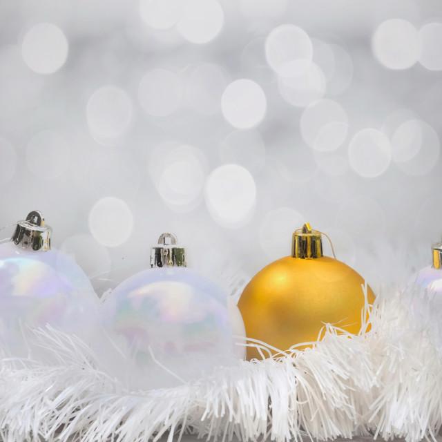 """golden christmas ball"" stock image"