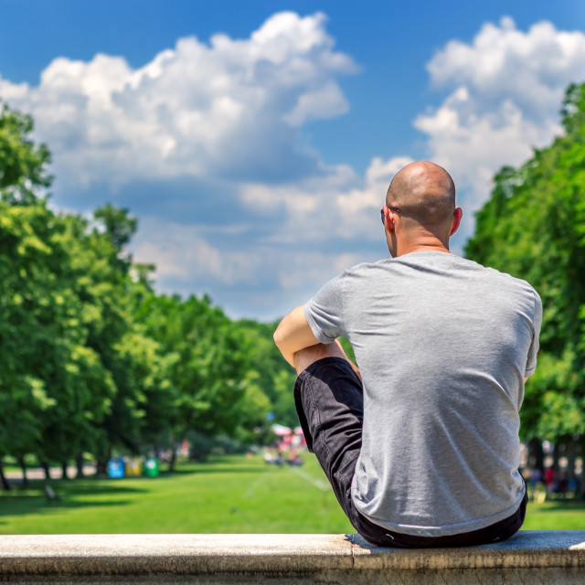 """""""Resting in beautiful place"""" stock image"""