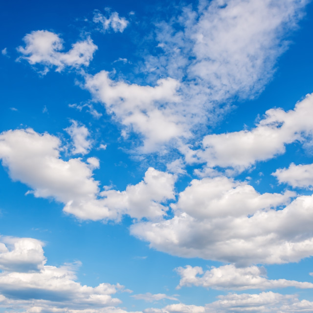 """White pile clouds in the blue sky"" stock image"