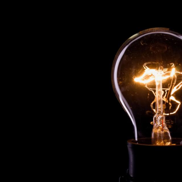 """""""Lightning inside a glass bulb"""" stock image"""