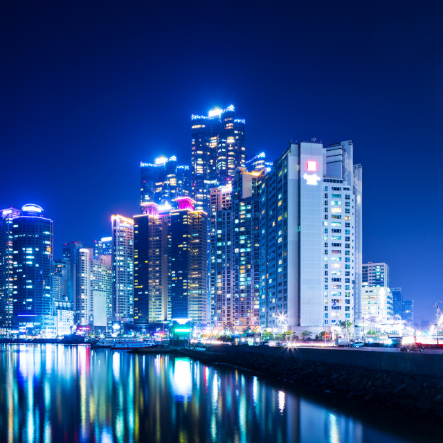 """Busan skyline"" stock image"