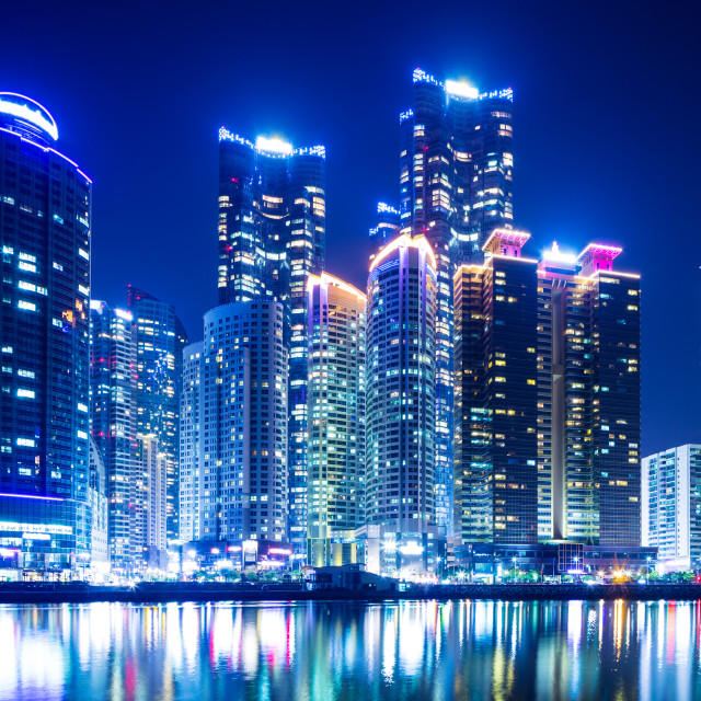 """Busan cityscape"" stock image"
