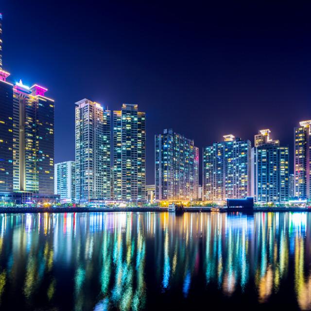 """Haeundae in Busan city"" stock image"