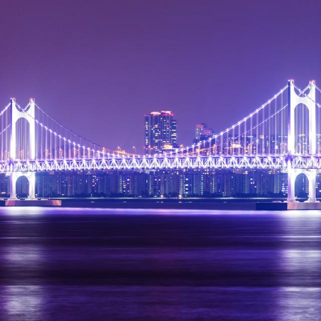 """Suspension bridge at Busan"" stock image"