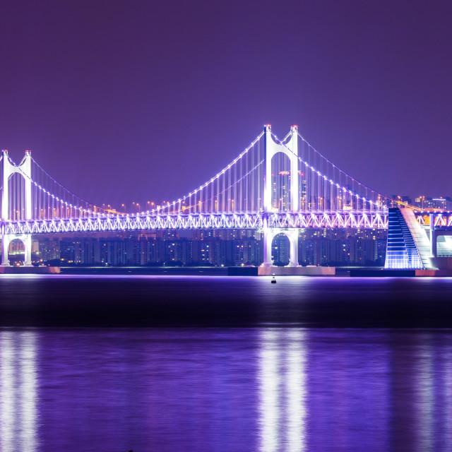 """Suspension bridge in Busan"" stock image"