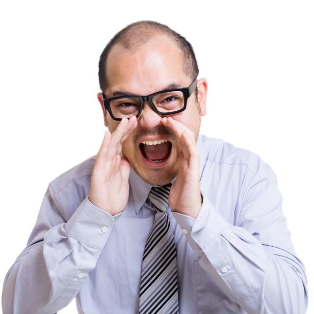 """Businessman shouting"" stock image"