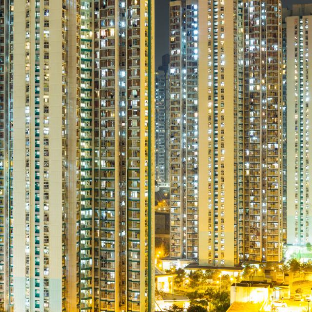"""""""Hong Kong night"""" stock image"""