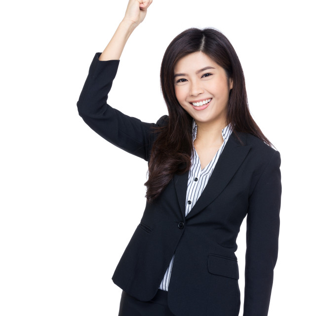 """Asia woman cheer up"" stock image"