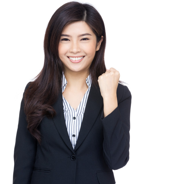 """Asia businesswoman cheer up"" stock image"