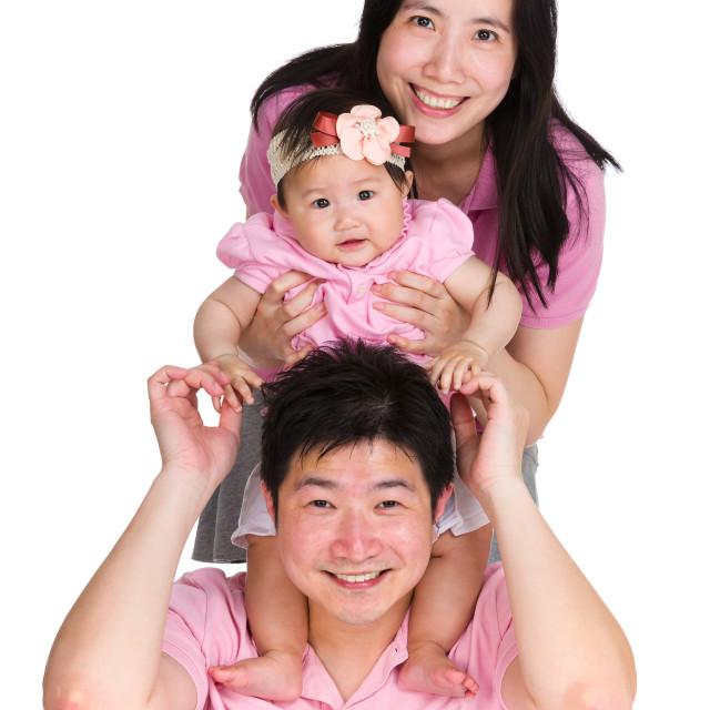 """Happy family line up"" stock image"