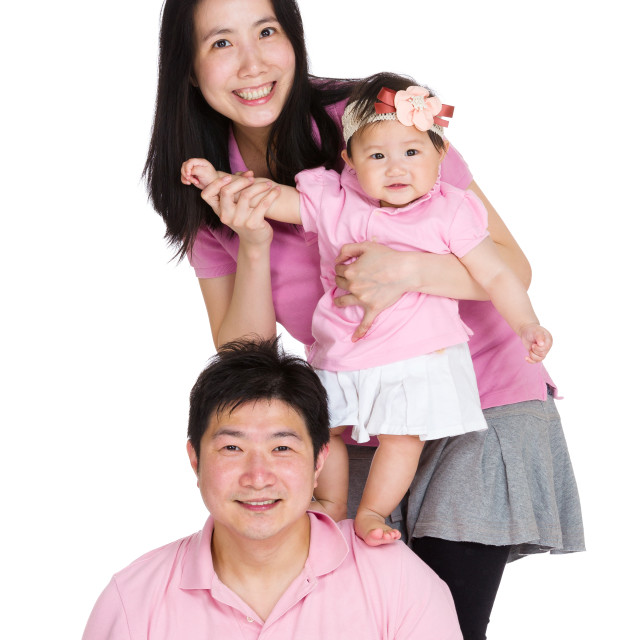 """Sweet family portrait"" stock image"