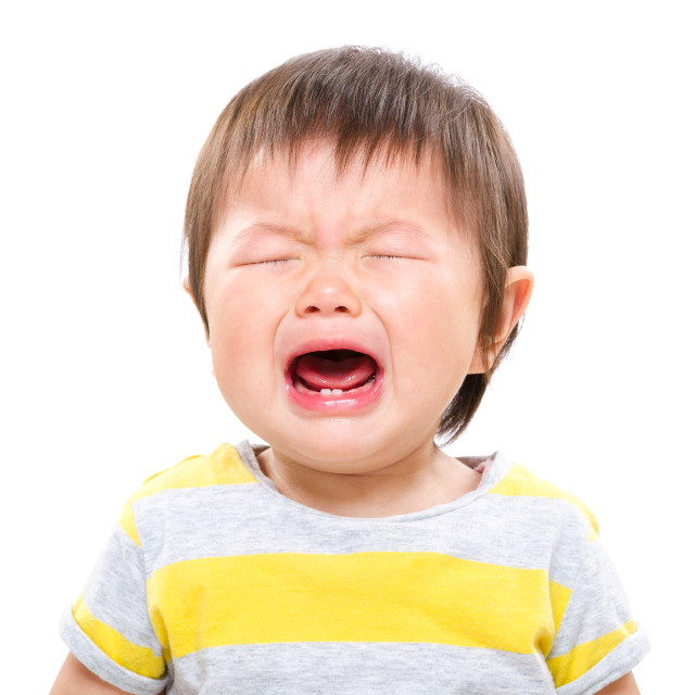 """Baby girl cry"" stock image"