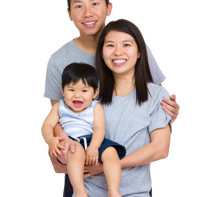 """""""Happy family portrait"""" stock image"""