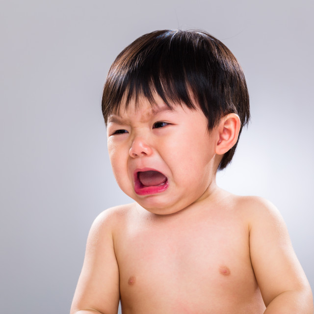 """""""Asia baby boy cry"""" stock image"""