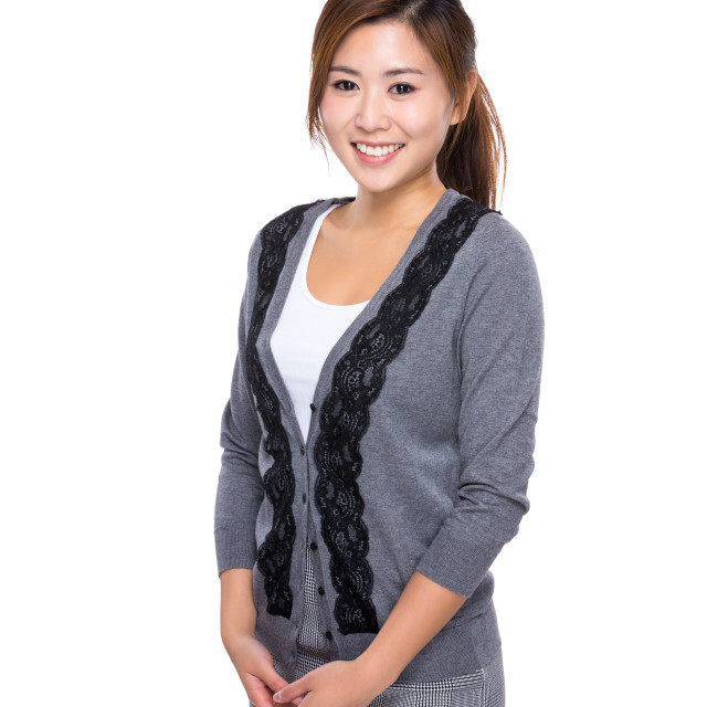 """""""Asian young woman portrait"""" stock image"""