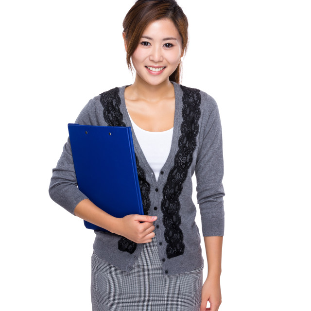 """""""Woman with clipboard"""" stock image"""