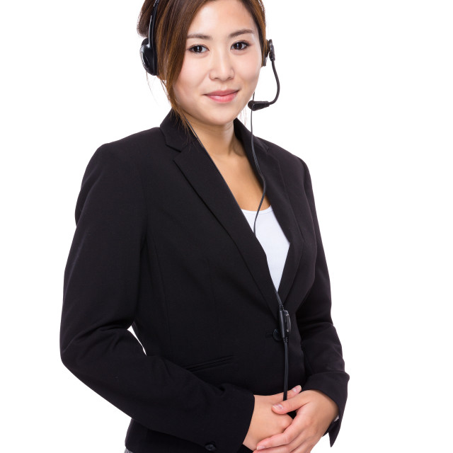"""""""Customer services officer"""" stock image"""