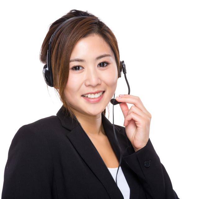 """Call center officer"" stock image"