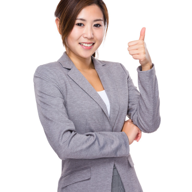 """""""Businesswoman with thumb up"""" stock image"""