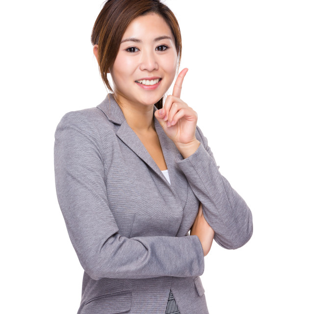 """""""Businesswoman with an new idea"""" stock image"""
