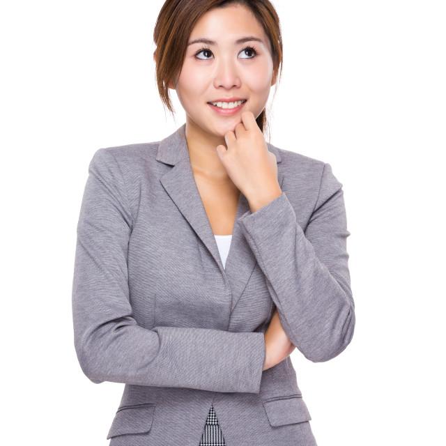 """Businesswoman think of idea"" stock image"