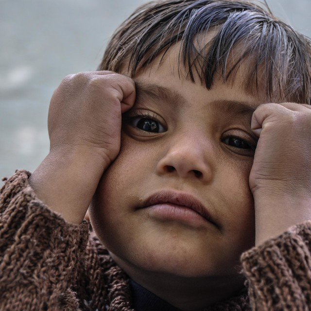 """Kid in Poverty"" stock image"
