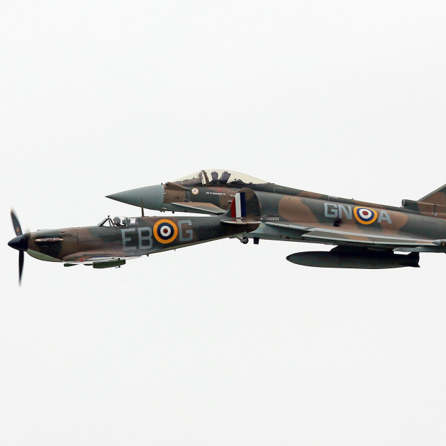 """Typhoon & Spitfire"" stock image"
