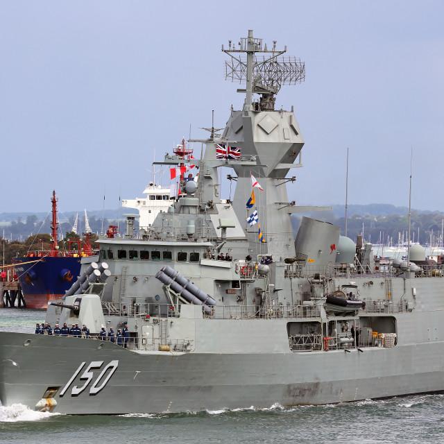 """""""HMAS Anzac"""" stock image"""