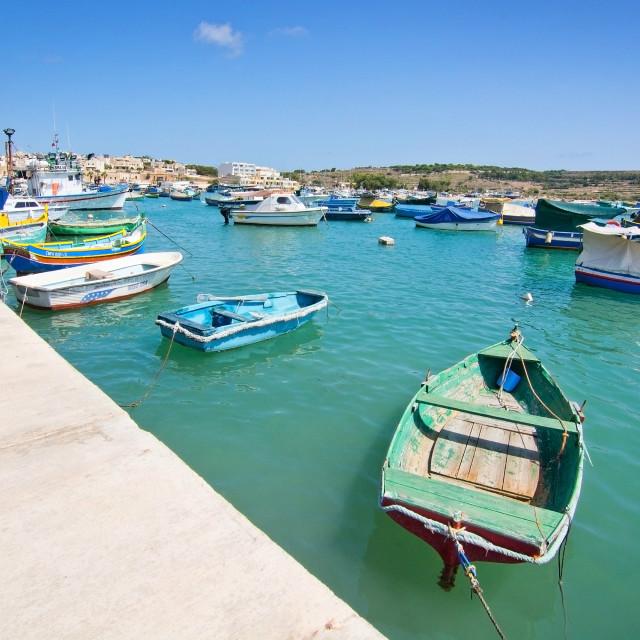 """Maltese boats"" stock image"
