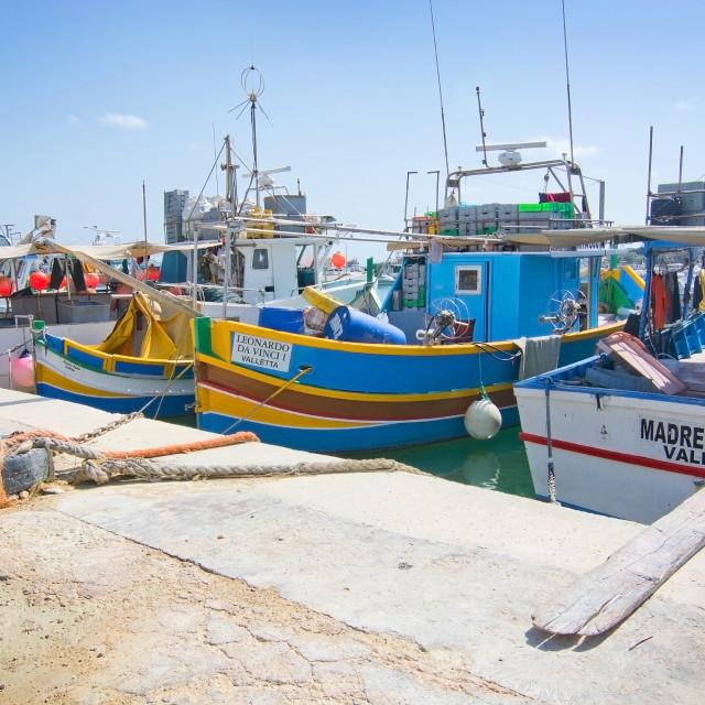 """Malta boats"" stock image"