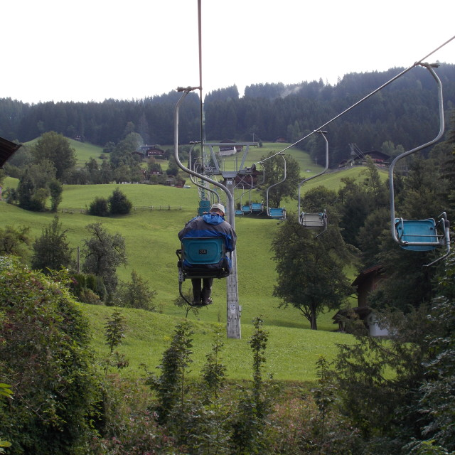 """""""Lonely chairlift"""" stock image"""