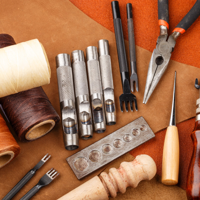"""DIY leather craft tool"" stock image"