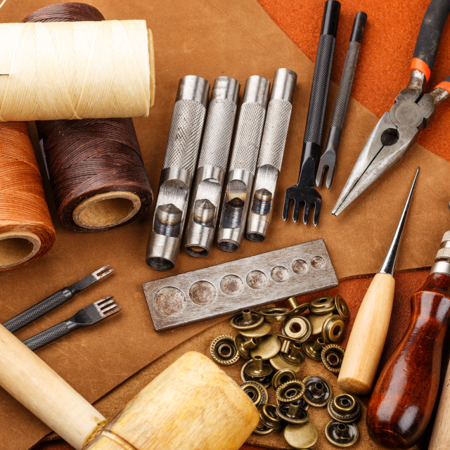 """Craft tool for leather accessories"" stock image"