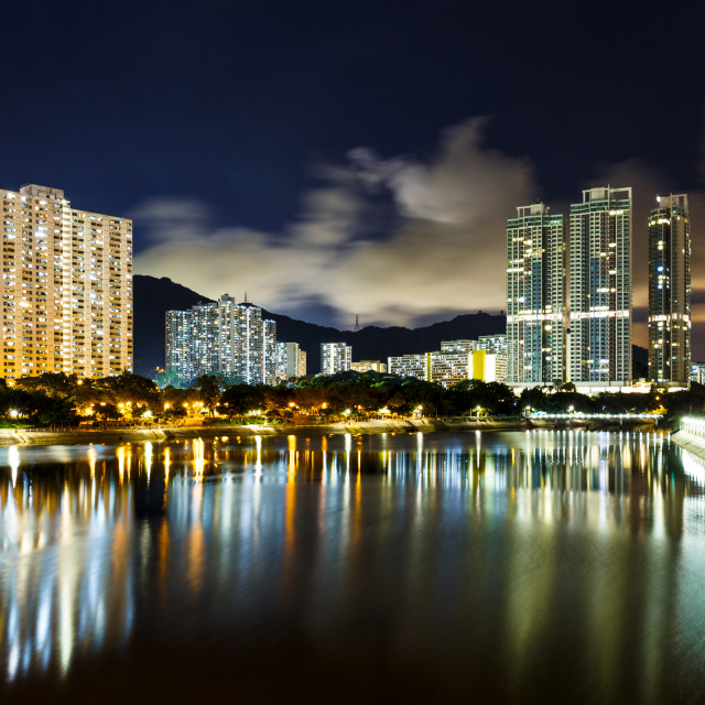 """""""Residential building in Hong Kong"""" stock image"""