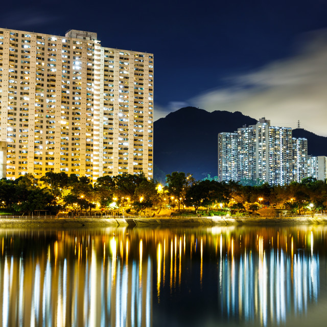 """""""Residential area in Hong Kong"""" stock image"""