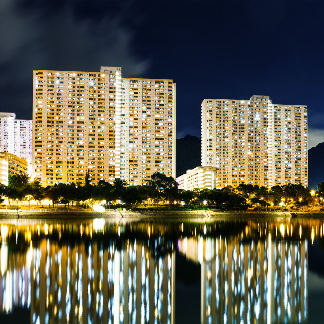 """Public housing building in Hong Kong"" stock image"