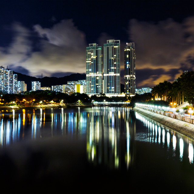 """""""Residential district in Hong Kong"""" stock image"""