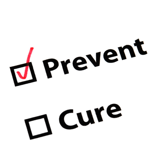 """""""Prevent better than cure"""" stock image"""